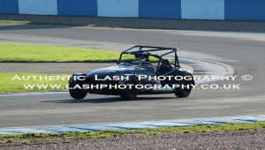 vintage track day car on race track - lash photography image