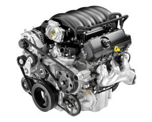 engine build for Chevrolet Silverado. engine on white background