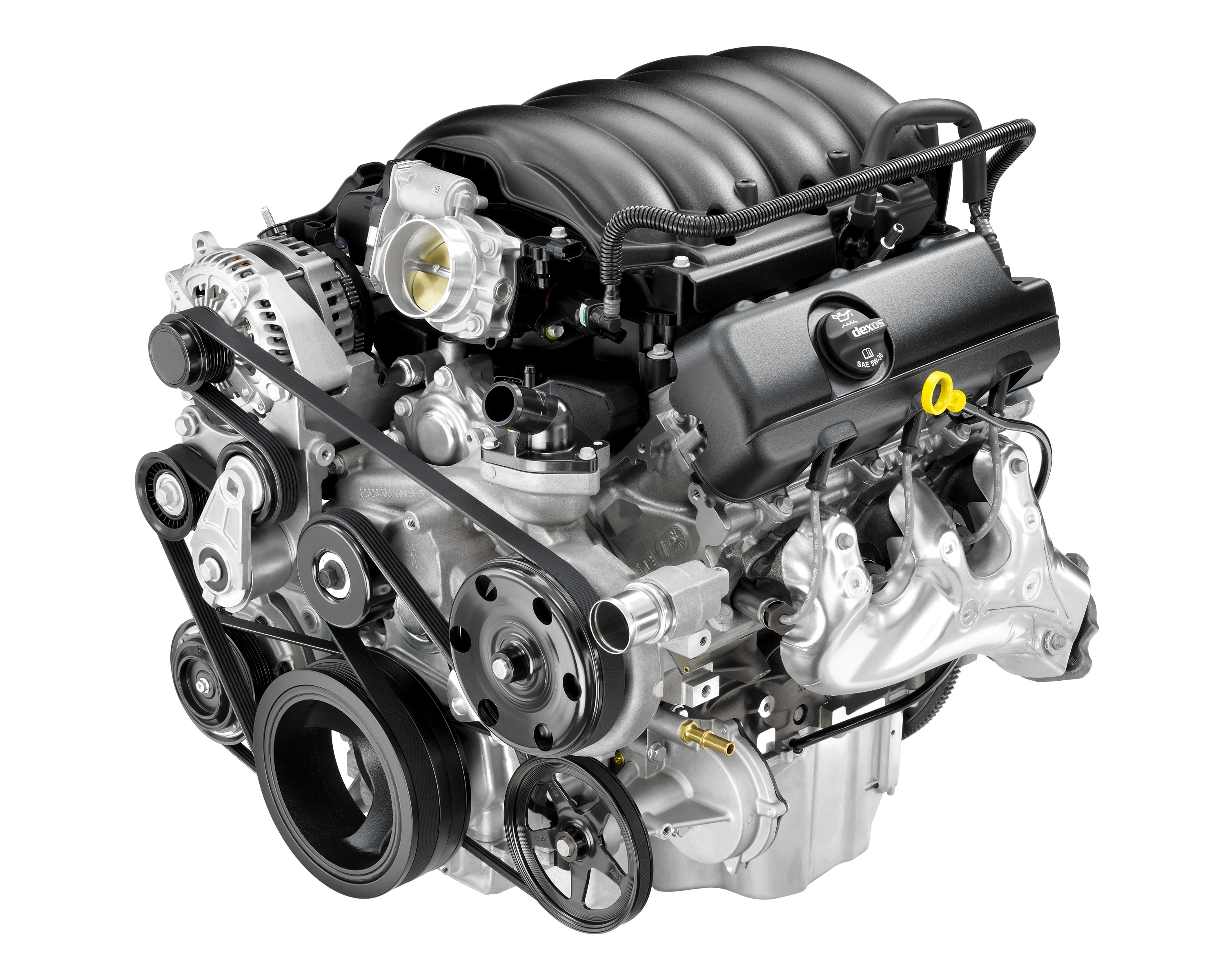 engine build for Chevrolet Silverado. engine on white background